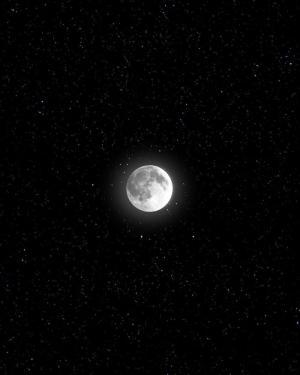 唯美意境夜空明月