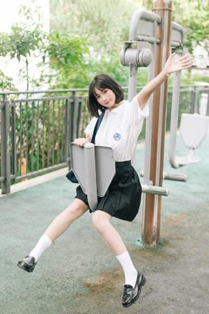 甜美森系女孩jk制服写真