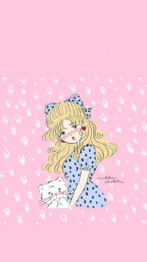 甜美少女心卡通形象
