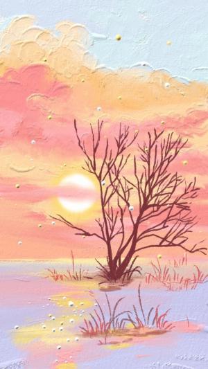 清新浪漫的风景油画