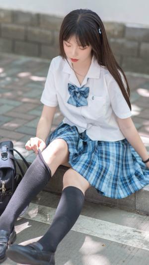 靓丽纯真的可爱JK美少女