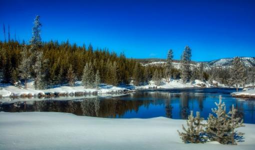 美国黄石国家公园自然风景