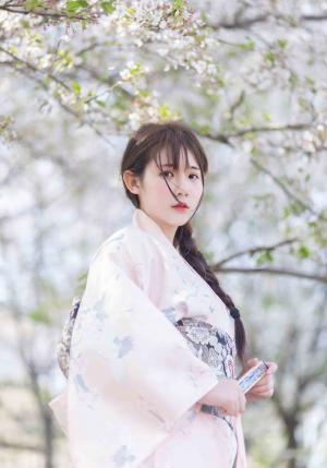 春天美女和服樱花唯美写真