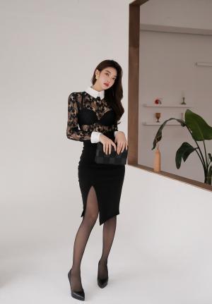 韩国嫩模朴正允优雅黑丝迷人两套合集
