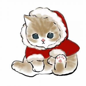 圣诞节可爱猫咪手绘头像