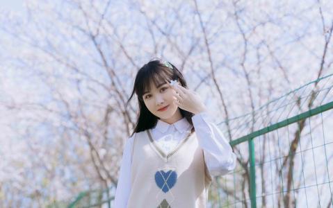 日系清新jk少女唯美樱花写真