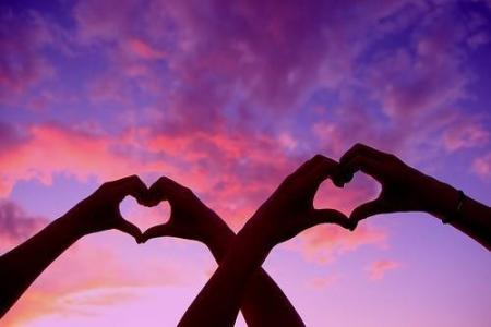 情侣爱心手势
