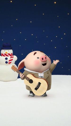 萌系卡通小猪猪壁纸