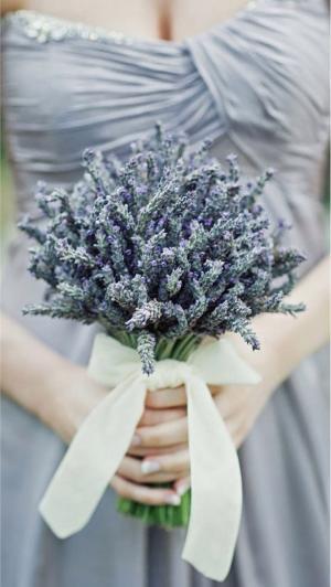 唯美的新娘捧花浪漫图片