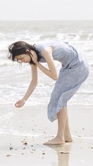 海边的唯美少女