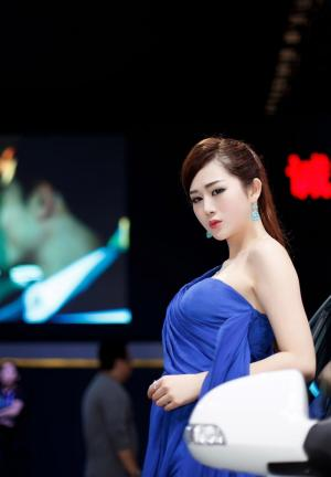 北京车展美女车模罗梦轩