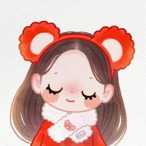 可爱手绘新年情侣小头像