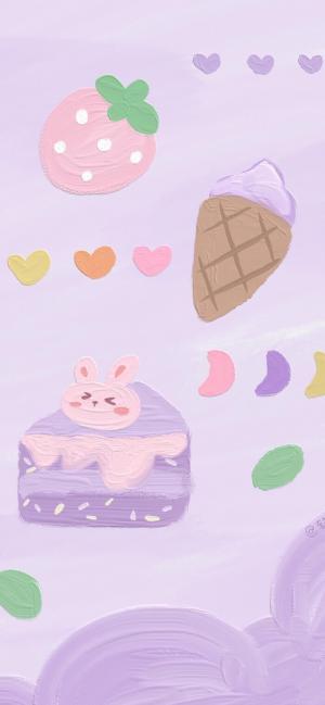 Q版卡通手绘可爱甜美插画
