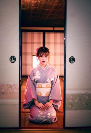 唯美风小清新日系和服写真