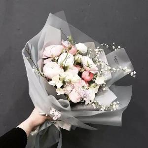 唯美浪漫小清新桔梗花束