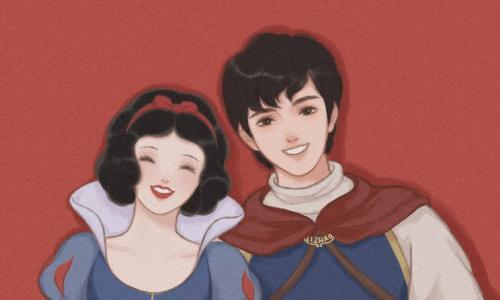 七夕童话故事情侣头像一人一边