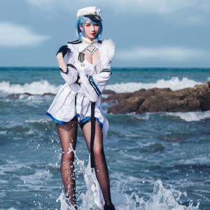 九曲Jean碧蓝航线黑丝美腿性感诱惑cosplay写真