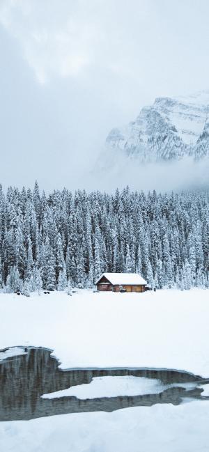 冬日里的高山雪景