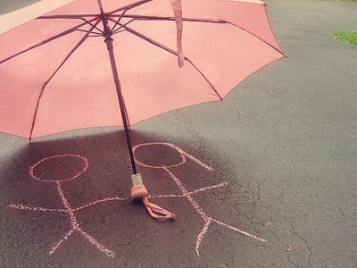 雨滴滑落的文雅伤感手机壁纸