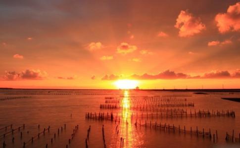 伤感唯美夕阳风景图