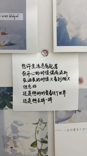 简约小清新手写文字艺术墙