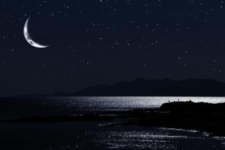 海与夜空的交融