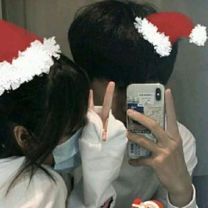 圣诞节浪漫温婉情侣头像
