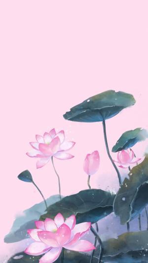 清新手绘花朵背景