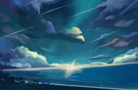 清新蔚蓝的山水画壁纸