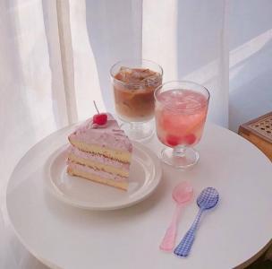 粉色少女心可爱治愈甜品
