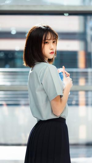 清新漂亮的JK小姐姐