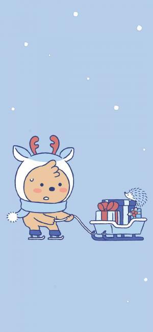可爱卡通圣诞主题