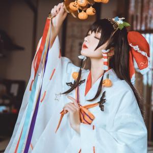 东方project和服少女博丽灵梦cosplay可爱写真