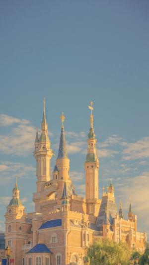 迪士尼乐园浪漫风光