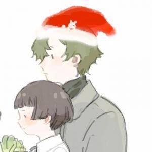 可爱卡通一男一女圣诞情侣头像