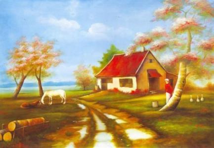风景油画手机壁纸