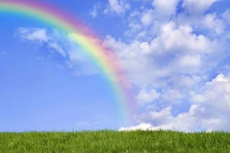 浪漫唯美彩虹风景图