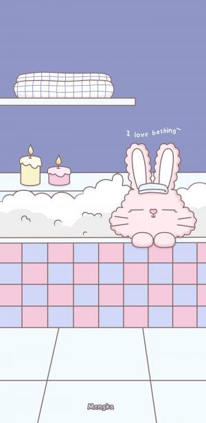 少女心卡通兔子壁纸