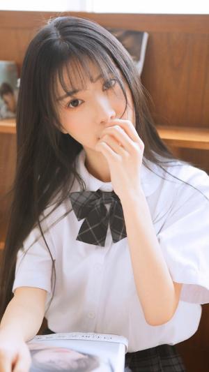 黑长直少女jk制服写真