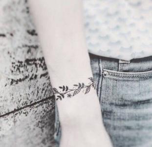 小清新女生纹身图案