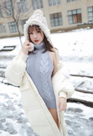 模范学院恩率babe北海道雪景旅拍