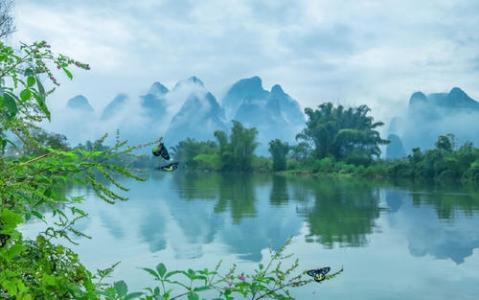 清新好看的山水风景图