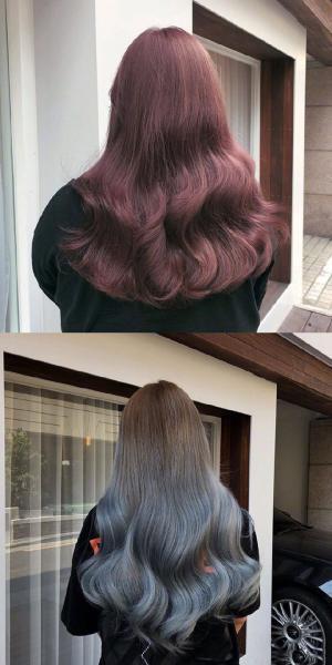 双格新年发色卷发造型