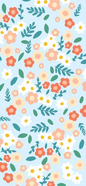 可爱清新的小碎花背景图