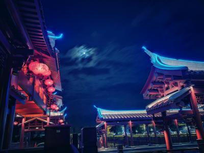 中山廊桥夜景