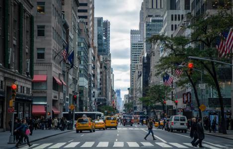 精致城市街道风景图片