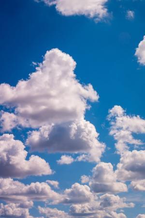 唯美白云风景图片