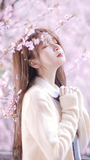 唯美的花儿与美少女