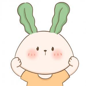 可爱的手绘小兔子头像