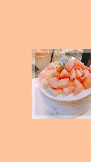 少女心橘粉色水蜜桃